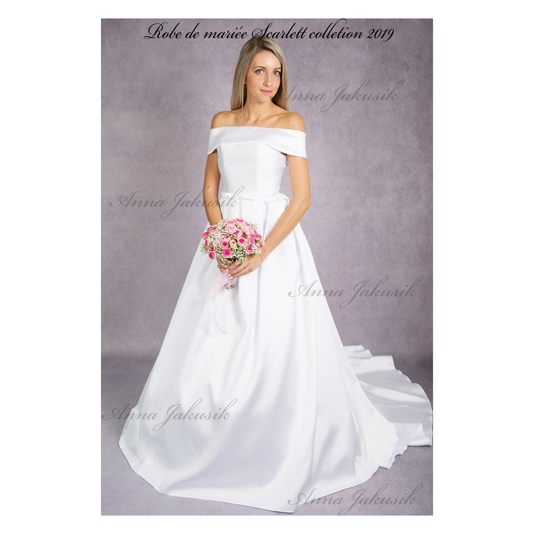 Robe de mariée Princesse à col bateau réalisé